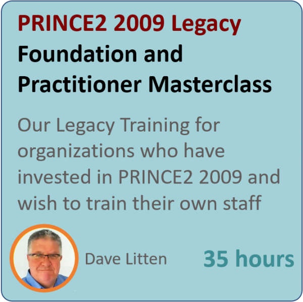PRINCE2 2009 Legacy graphic 600x599 - PRINCE2 Primer - Foundation and Practitioner (2009 Syllabus)