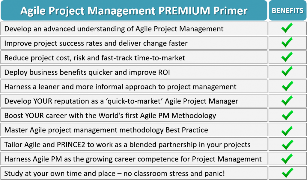 agilepm benefits - Agile Project Management Masterclass