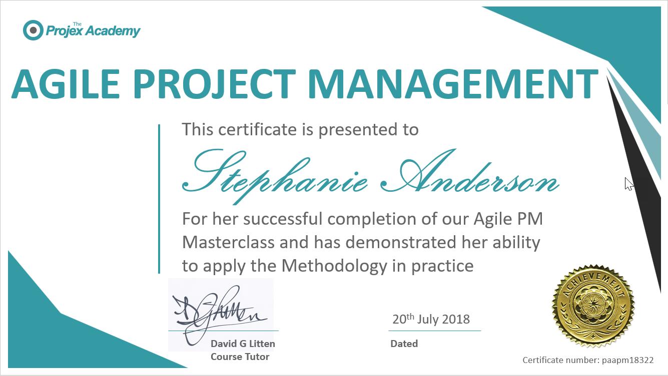 agilepm certificate - Agile Project Management Masterclass