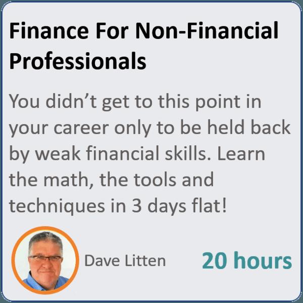 finance primer 600x599 - Finance for Non Financial Professionals