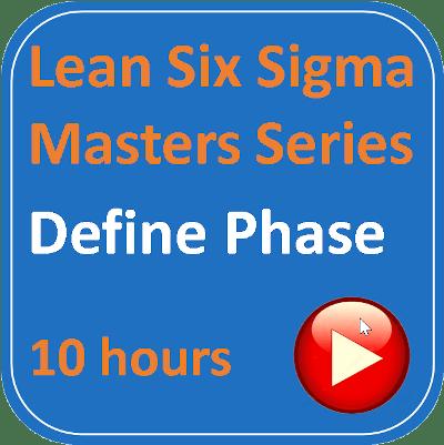 Lean Six Sigma – 02 – Define Phase Lean Six Sigma